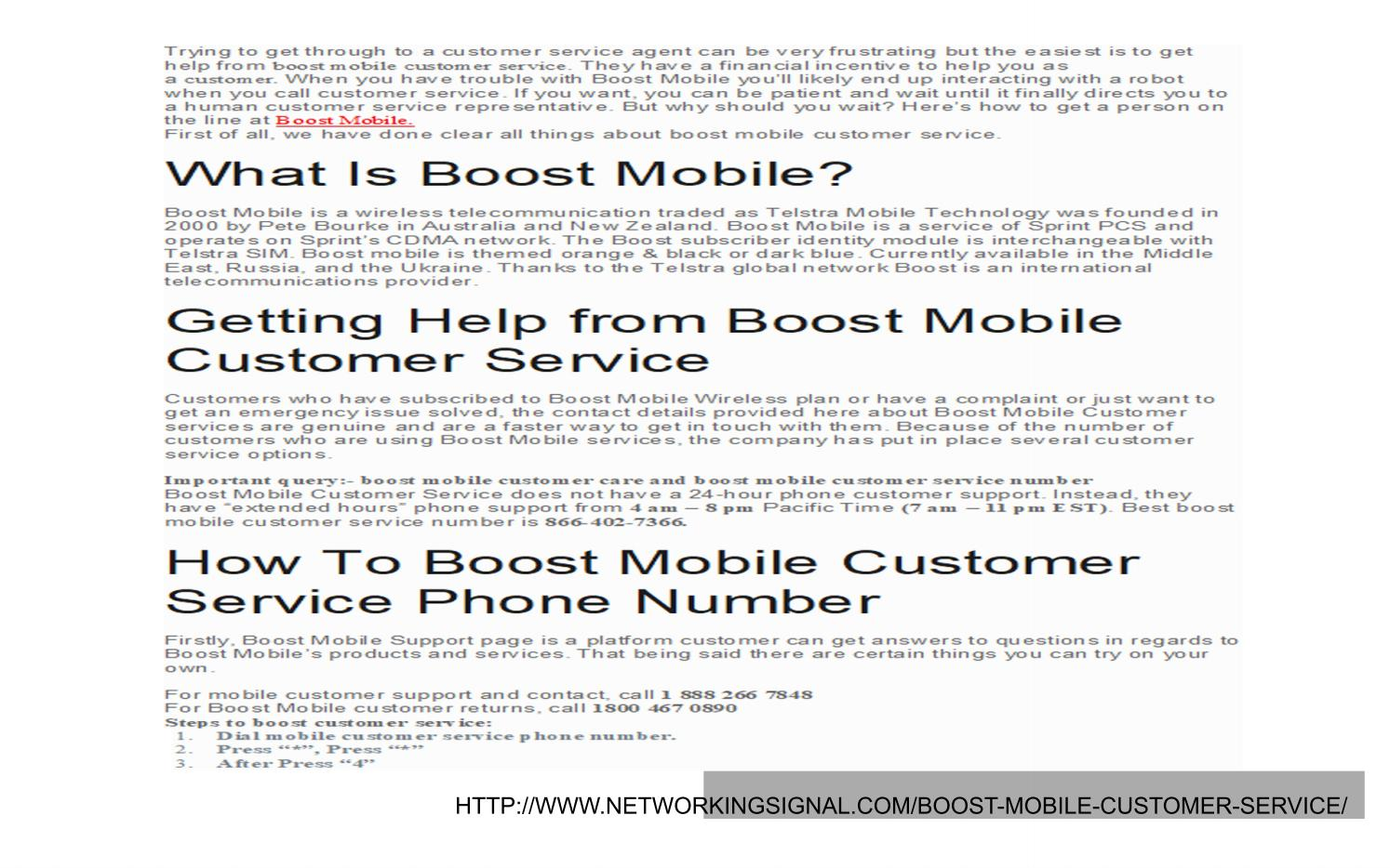 Boost mobile customer service by networkingsignal - issuu