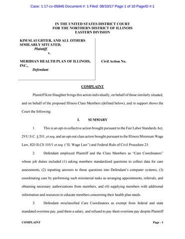 Meridian Health Complaint by siegellawgroup - issuu