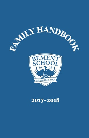 The Bement School Family Handbook 2017-2018 by The Bement