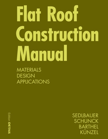 Flat Roof Construction Manual By Detail Issuu