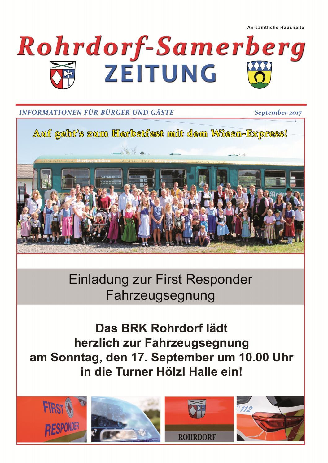 RSZ Rohrdorf-Samerberg ZEITUNG Ausgabe Septemberl 2017 by Uwe Hammerschmid  - issuu