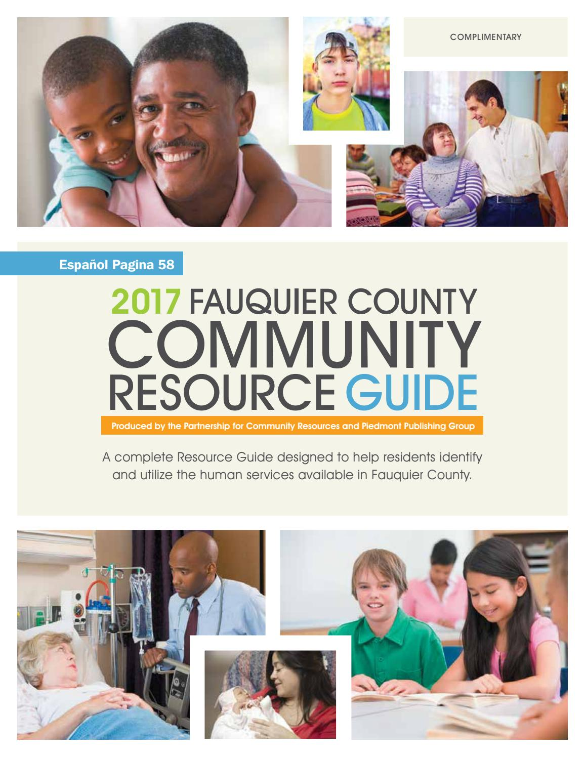 2017 Fauquier County Community Resource Guide by Piedmont Publishing ...