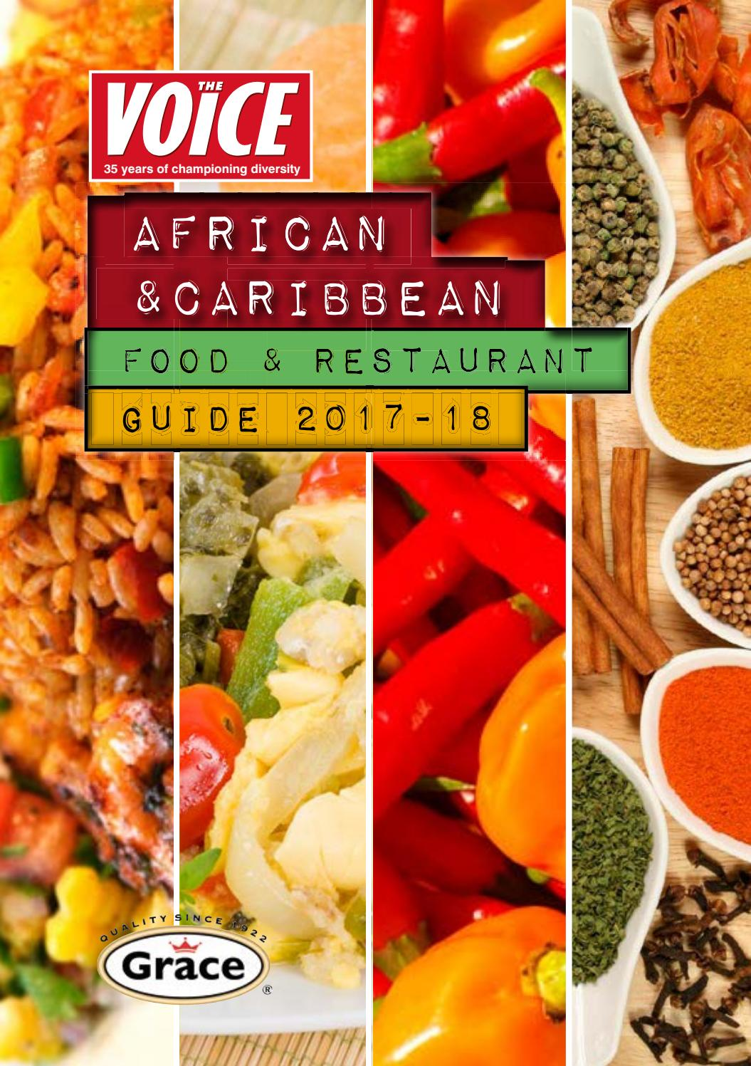 The voice african caribbean food and restaurant guide 2017 for Afro caribbean cuisine