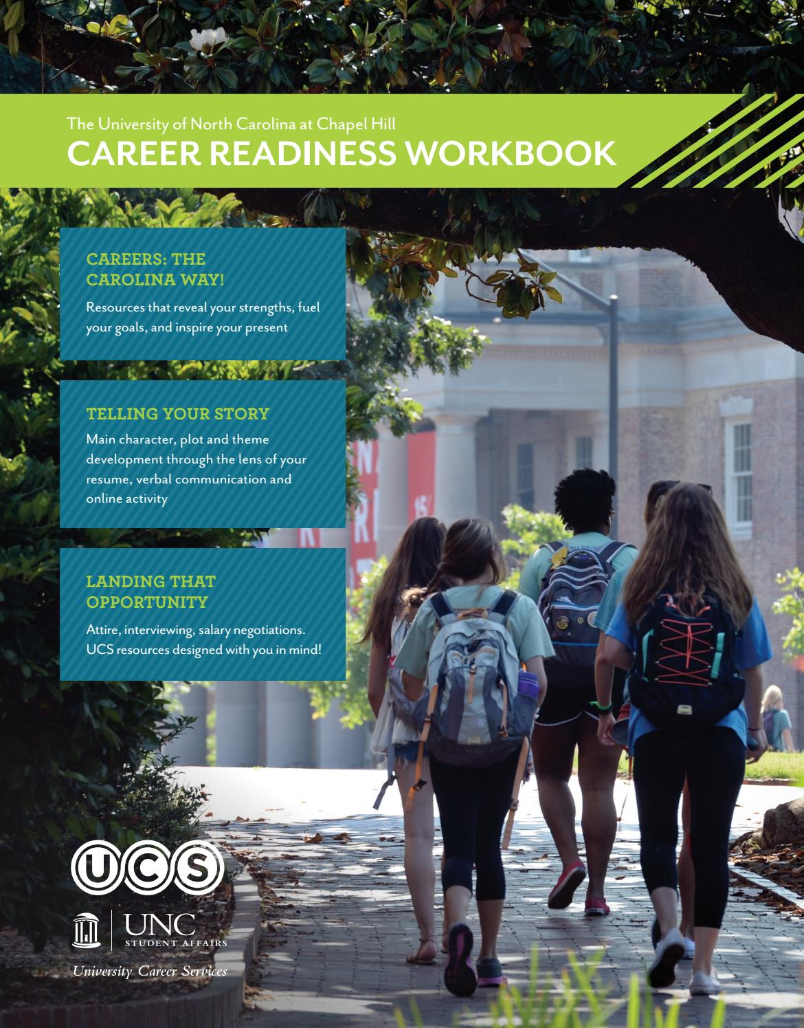 UCS Career Readiness Workbook by UNC Chapel Hill University Career ...