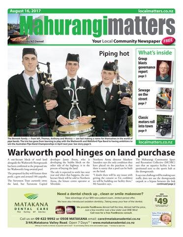 Mahurangi Matters 16 August 2017 by Localmatters - issuu
