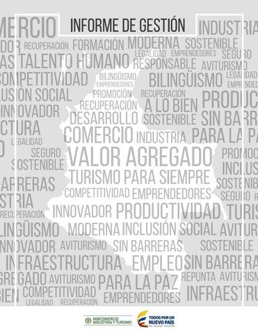 informe de gestión Industria mercio Sostenible ador Recuperación Formación  Moderna Legalidad Emprendedores Seguro as Talento Humano Responsable  Aviturismo ... 67716f01d27