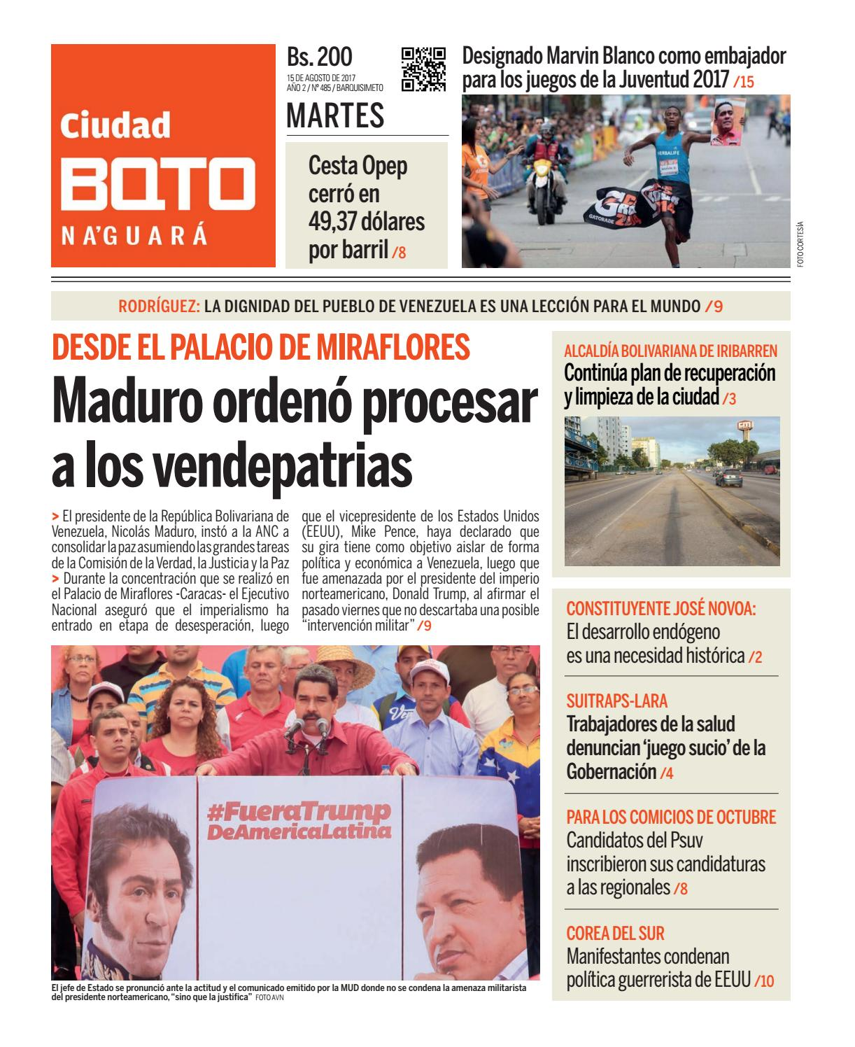 Ciudad BQTO Edición No. 485 by Ciudad BQTO - issuu