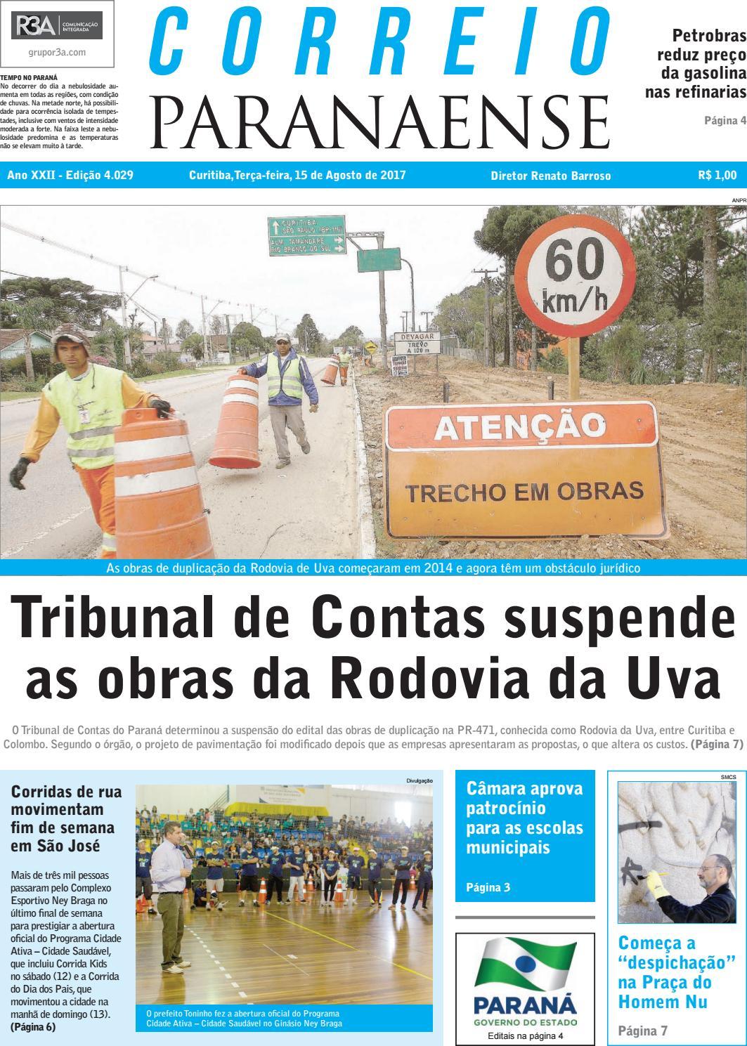 Correio Paranaense - Edição 15 08 2017 by Editora Correio Paranaense - issuu a8a9a926637f6