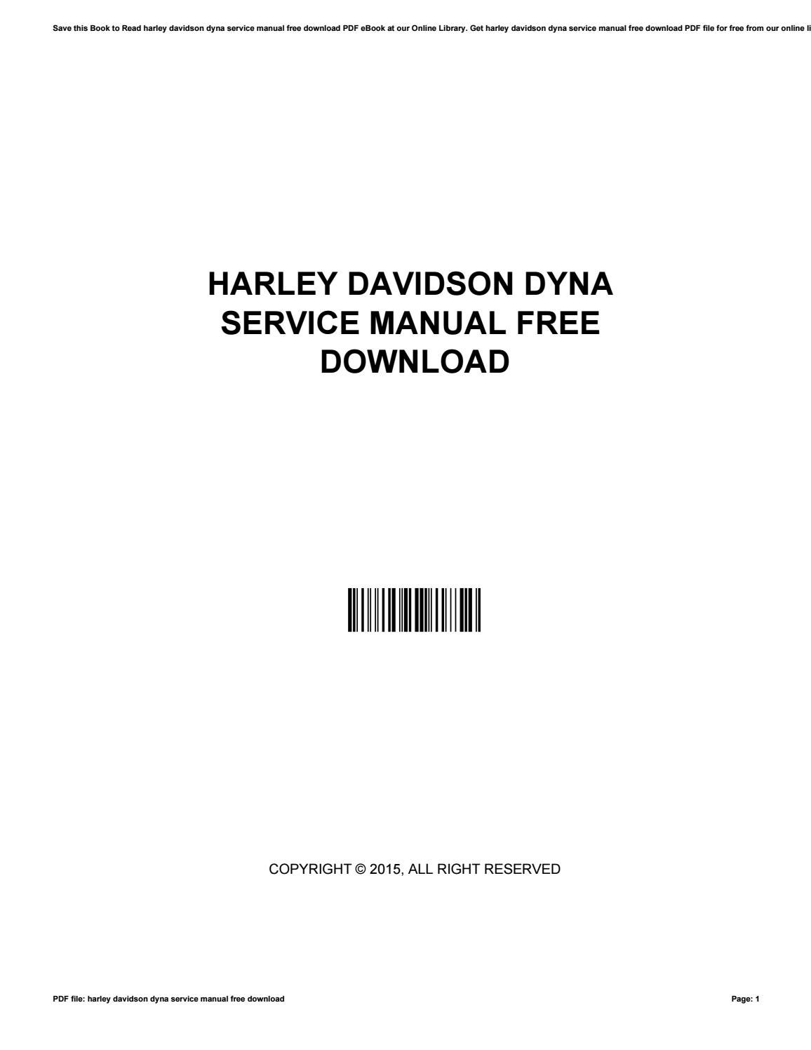 Harley davidson dyna service manual free download by ChadSinclair3280 -  issuu