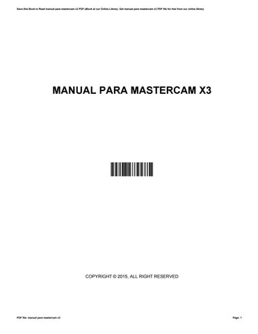 manual para mastercam x3 by lyndaberry2790 issuu rh issuu com