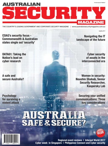 Australian security magazine augsept 2017 by asia pacific security page 1 malvernweather Choice Image