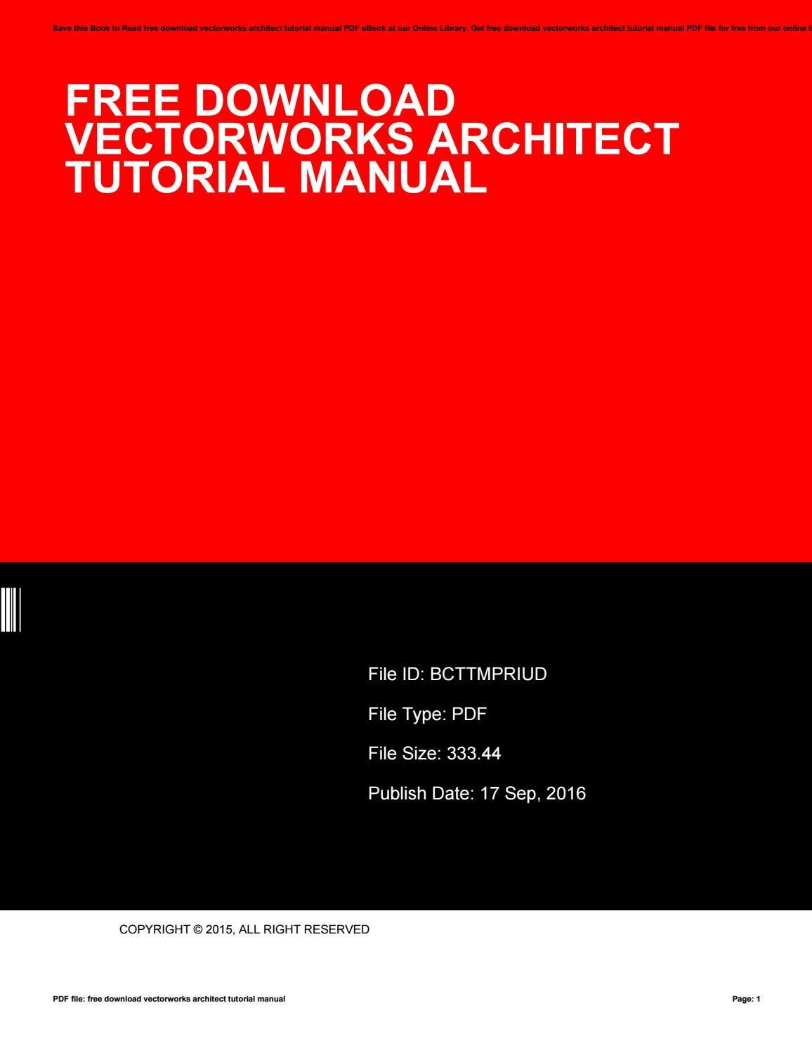 Free download vectorworks architect tutorial manual by RobinBrooks1672 -  issuu