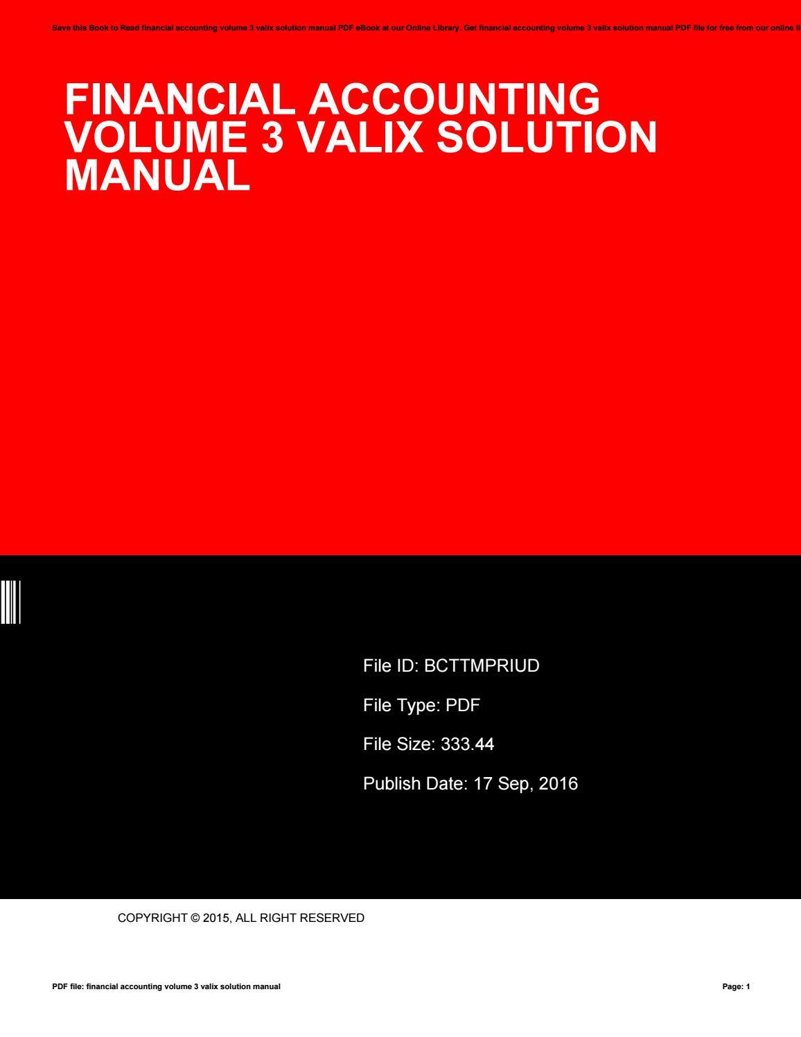 financial accounting 3 valix solution manual 2016 pdf free download