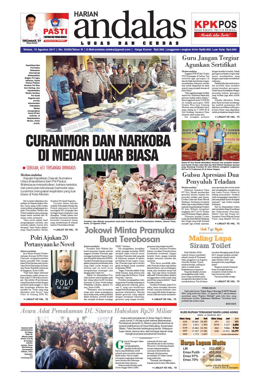 Epaper andalas edisi selasa 15 agustus 2017 by media andalas - issuu 5db60c2626