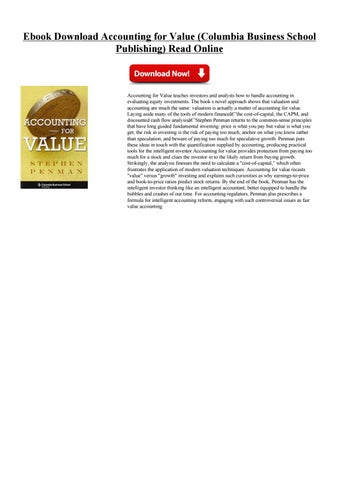 Accounting for value by kjghjdask issuu ebook download accounting for value columbia business school publishing read online download best book accounting for value columbia business school fandeluxe Gallery