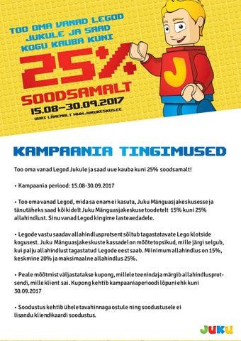 31cb20e4a98 Too oma vanad Legod Jukule ja saad uue kauba kuni 25% soodsamalt! by ...