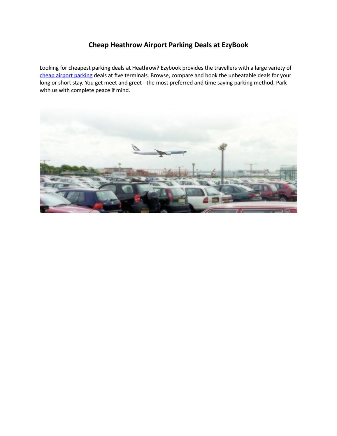 Heathrow airport cheap parking by thomas scott issuu m4hsunfo