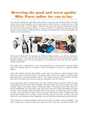 Bike parts for sale by Gear Trade - issuu