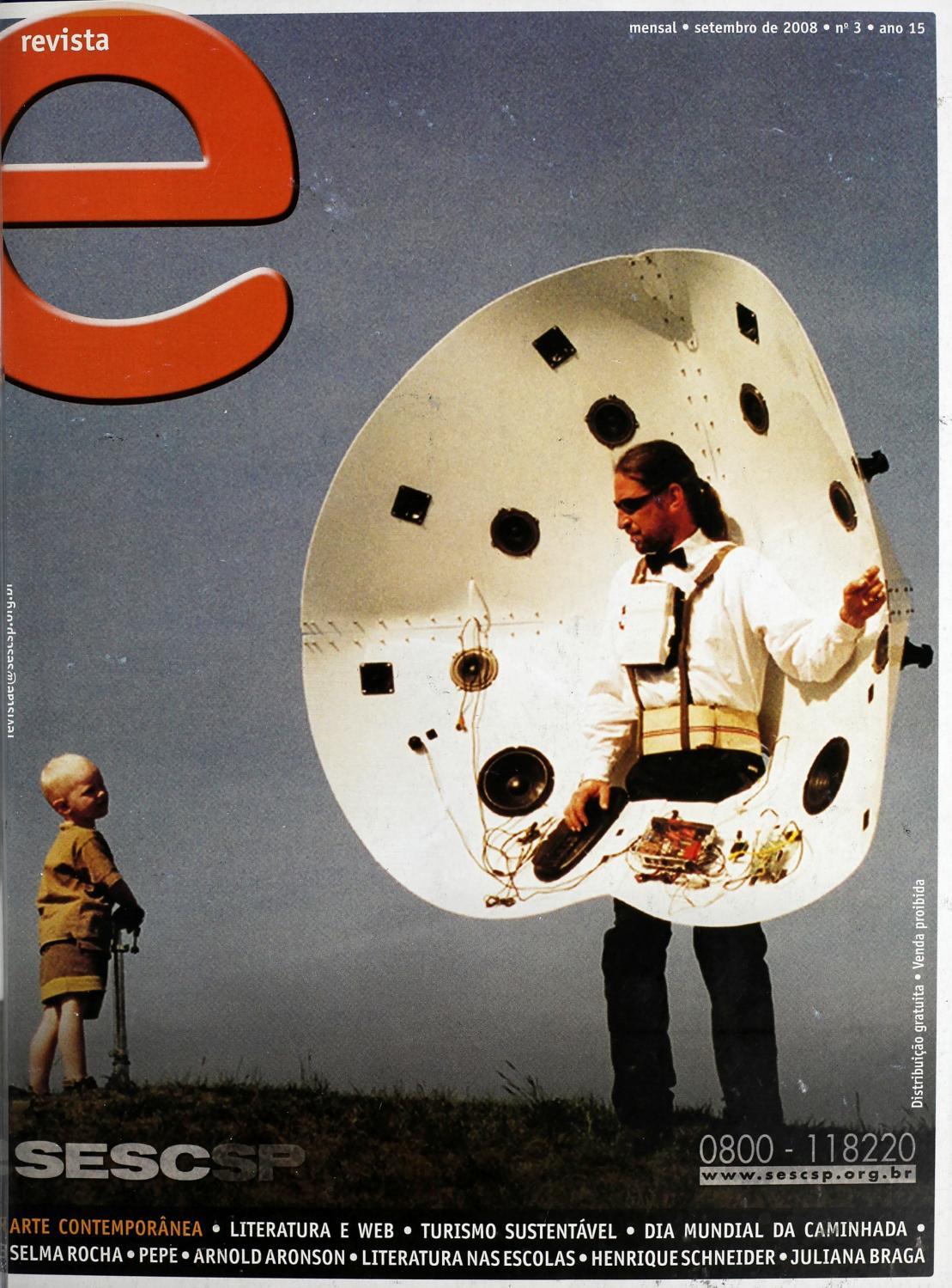Revista E - Setembro de 2008 - ANO 15 - Nº 3 by Sesc em São Paulo - issuu ff730c2d4b1