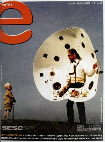 Revista E - Setembro de 2008 - ANO 15 - Nº 3 by Sesc em São Paulo ... 813e0a8b0e2