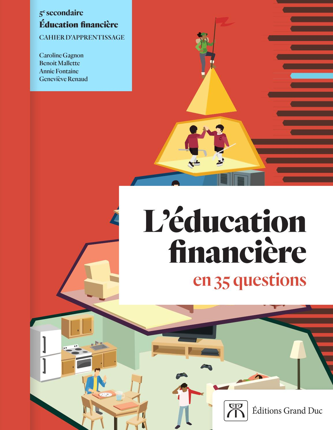 Educ Financiere Cahier Ch01 Quest 1 5 E1 Simple By Editions Grand Duc