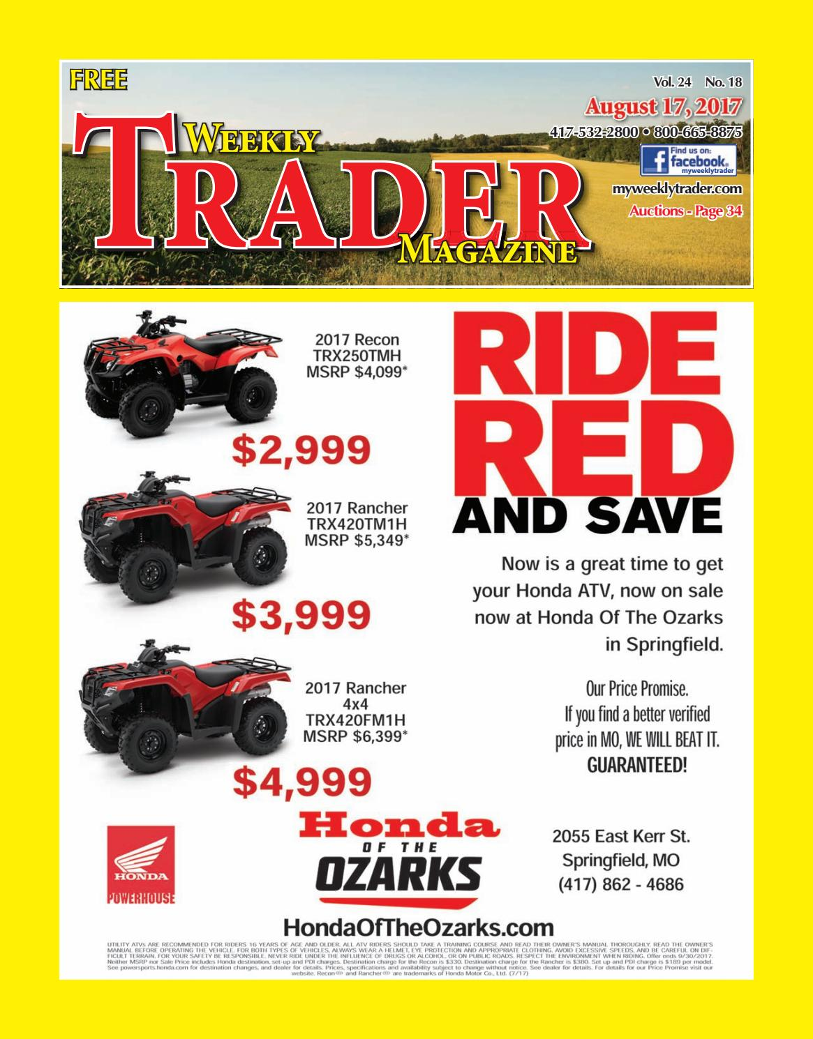 Weekly Trader August 17, 2017 by Weekly Trader - issuu