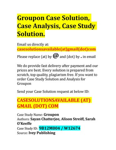 Groupon and the SEC Case Solution and Analysis  HBS Case Study     Case solution for alibaba s bonds dilemma location  timing  and pricing