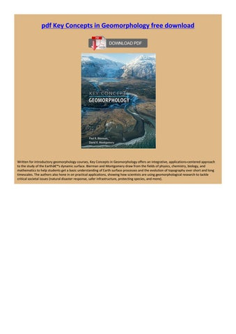 Key Concepts In Geomorphology Pdf