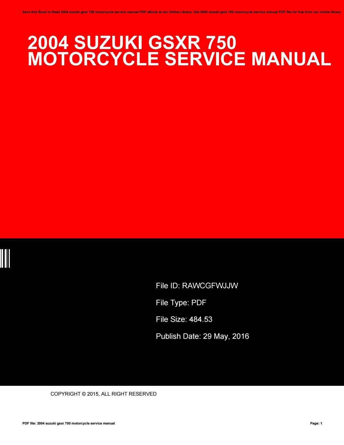 Gsxr 750 Manual Pdf
