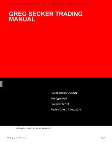 greg secker trading manual by marymurley2611 issuu rh issuu com