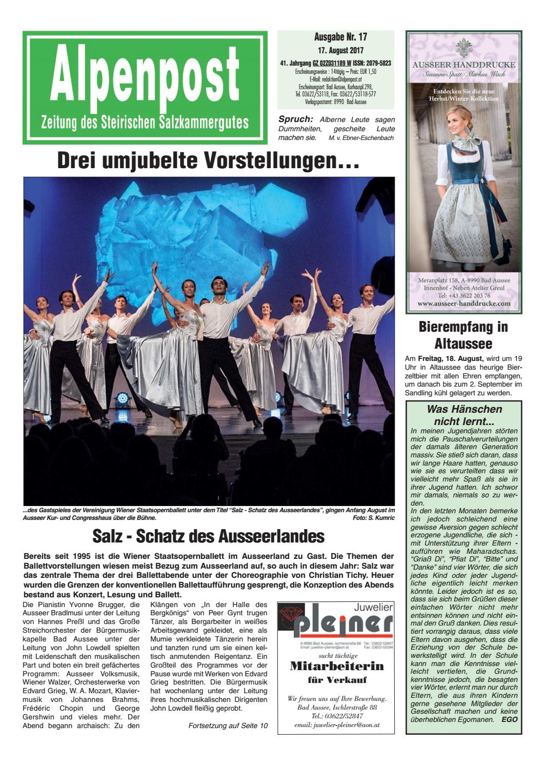 Alpenpost 17 2017 By Alpenpost Redaktion   Issuu