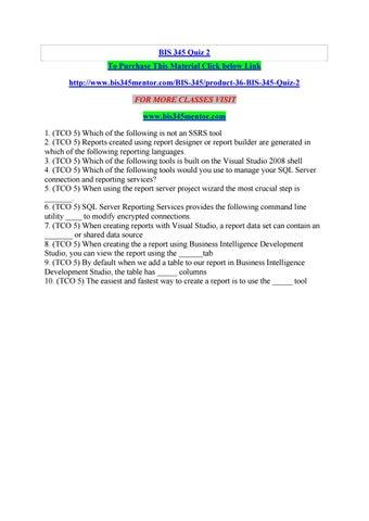 Bis 345 quiz 2 by manuuu22 - issuu