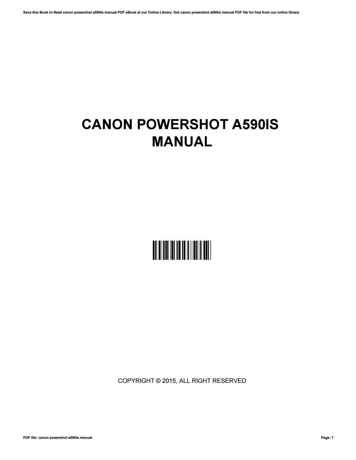 Canon all in one manual ebook ebook ballew us array canon powershot a590is manual by helenrector4569 issuu rh issuu fandeluxe Image collections