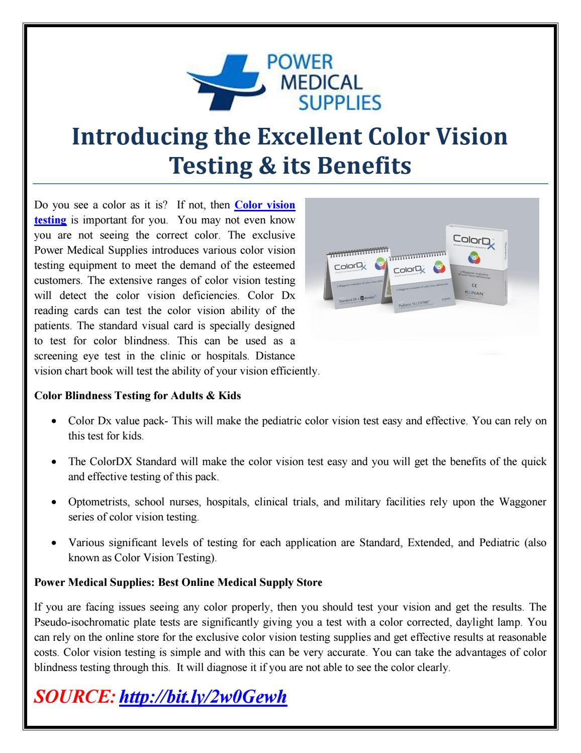 Introducing the Excellent Color Vision Testing & its Benefits by