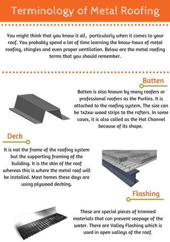 Alpha Rain Terms Related To Metal Roofing By Alpha Rain