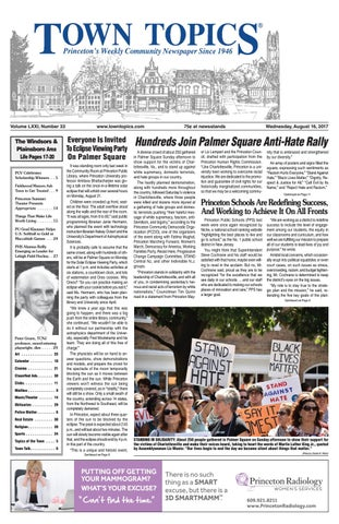 Town Topics Newspaper August 16 2017 By Witherspoon Media Group Issuu