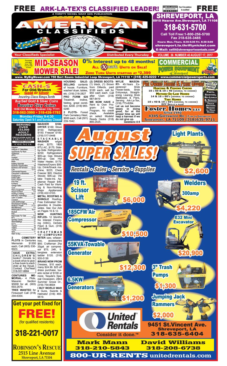 Yellow Cab Shreveport >> American Classifieds Shreveport La Aug 17rd 2017 By