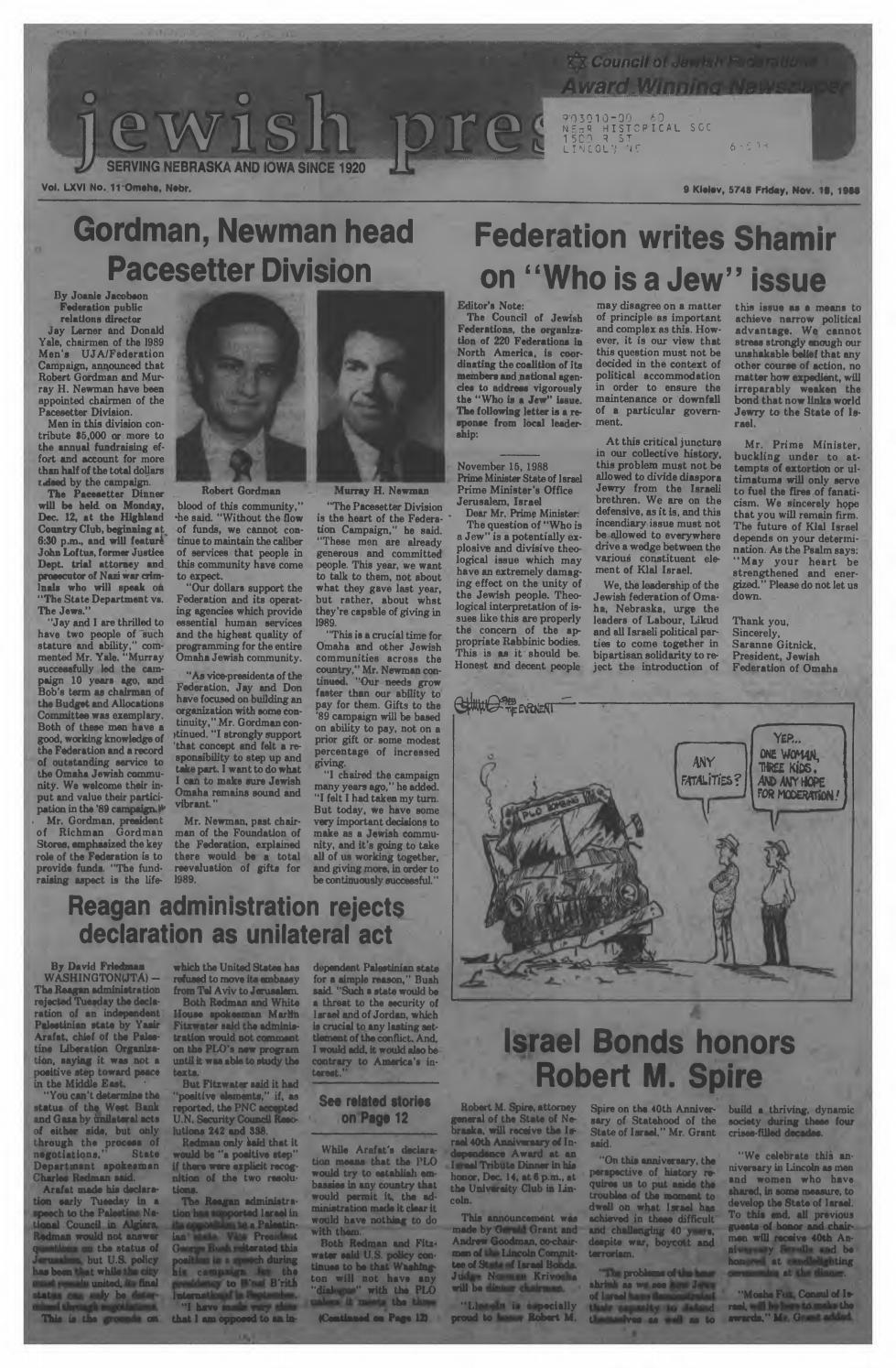 November 18 1988 by Jewish Press