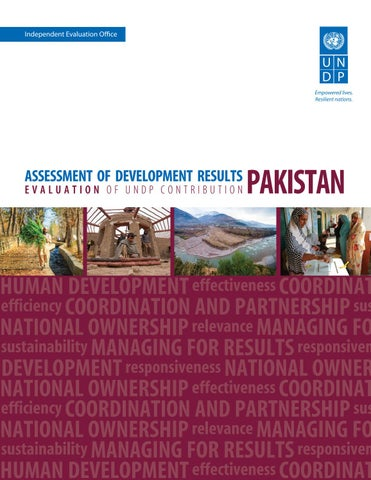 Assessment of Development Results: Pakistan by UNDP Independent