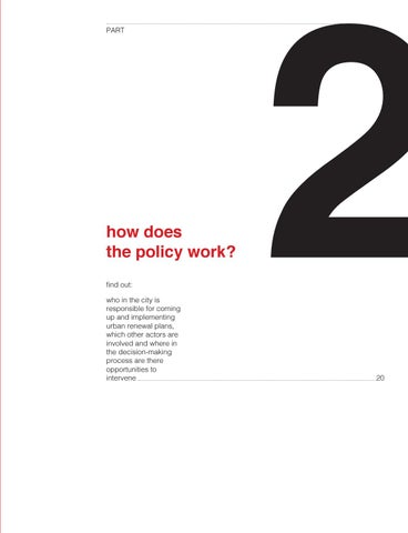Page 21 of How does the policy work?