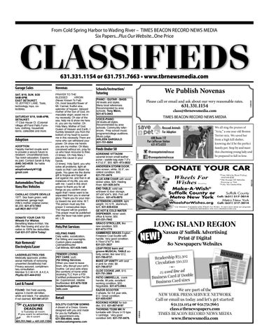 Classifieds - August 17, 2017 by TBR News Media - issuu