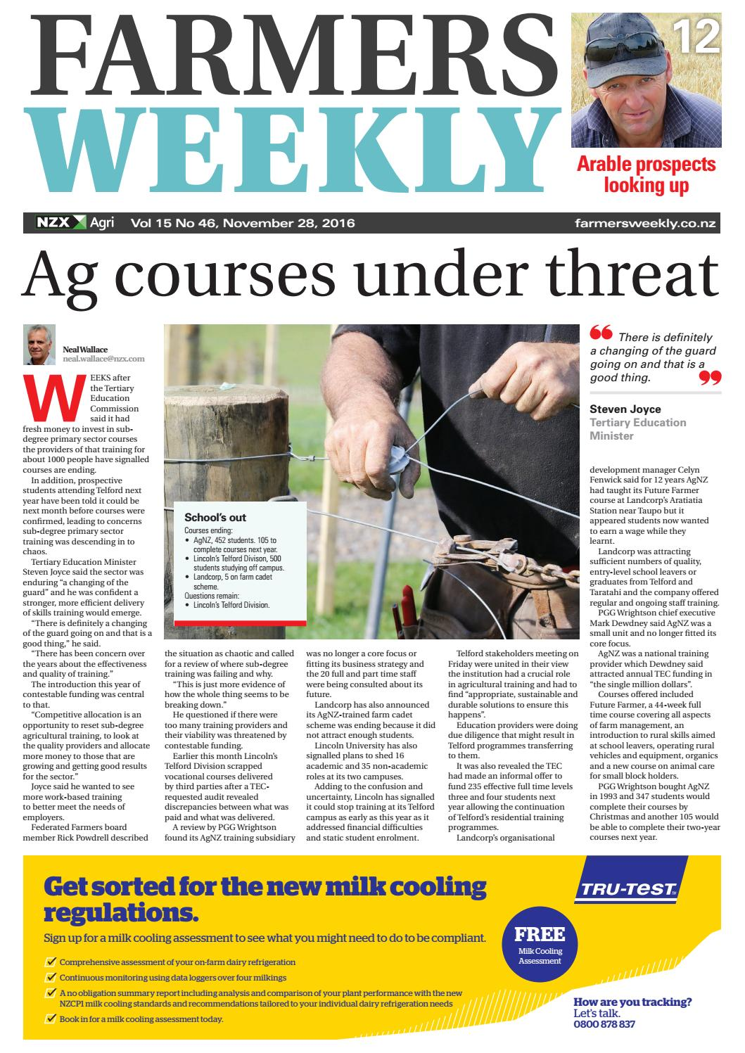 Farmers Weekly Nz 28 November 2016 By Issuu Part 1 How To Test The Headlight Switch Gm 43l 50l 57l