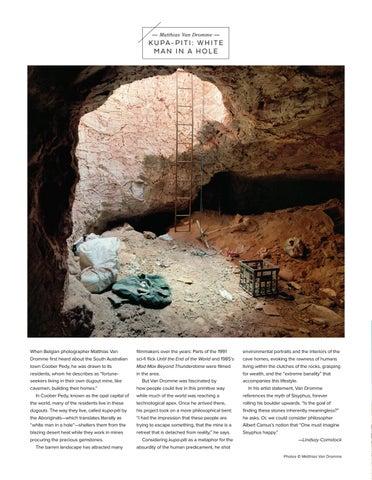 Page 26 of Matthias Van Dromme KUPA-PITI: WHITE MAN IN A HOLE