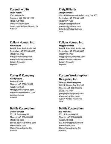 Arizona North Chapter Of ASID Industry Partner Directory By Arizona - Daltile scottsdale az