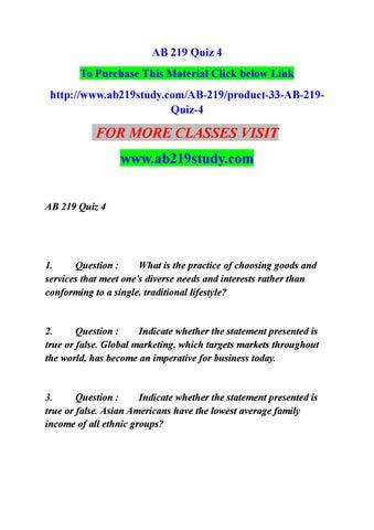 Ab 219 Quiz 4 By Rithik4b Issuu