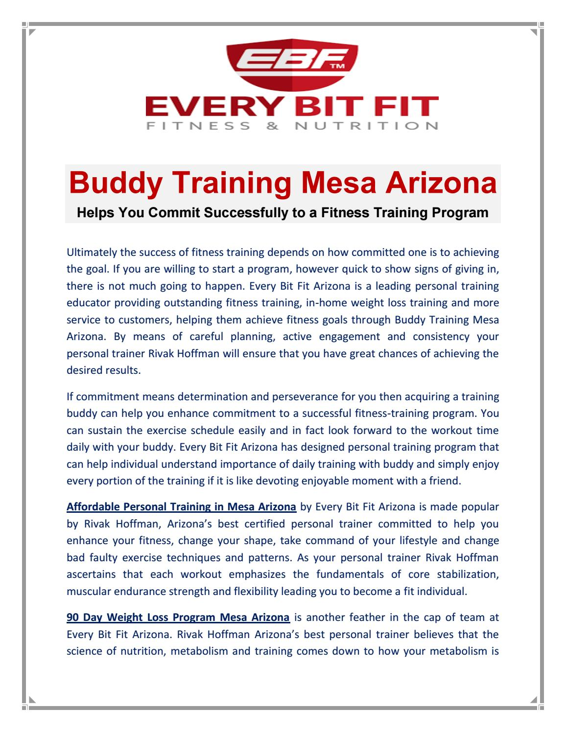 Personal Fitness Training Mesa Arizona By Everybitfitaz Issuu