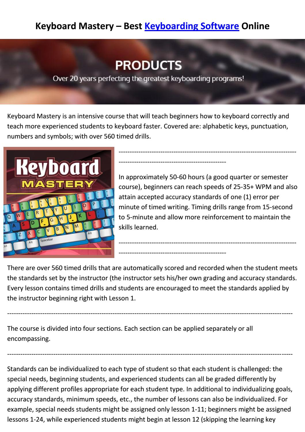 Keyboard Mastery Best Keyboarding Software Online By Eric Foley Issuu