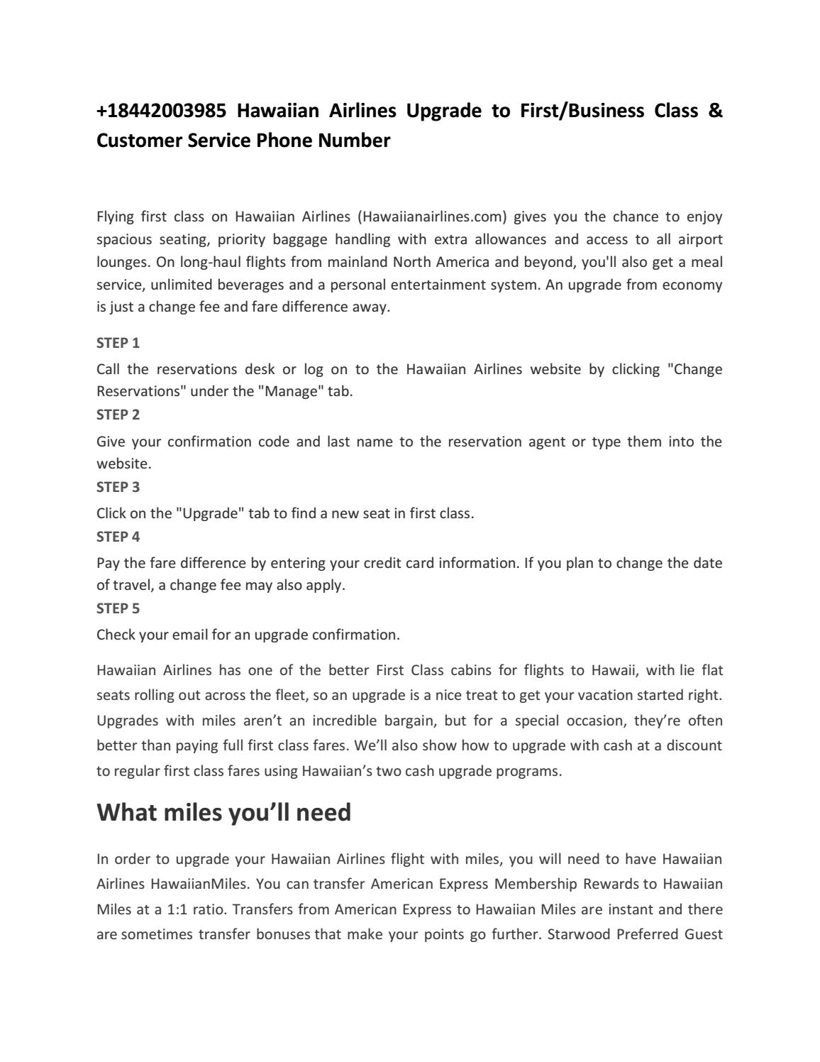 18442003985 hawaiian airlines upgrade to firstbusiness class 18442003985 hawaiian airlines upgrade to firstbusiness class customer service phone number by abigail derry issuu colourmoves