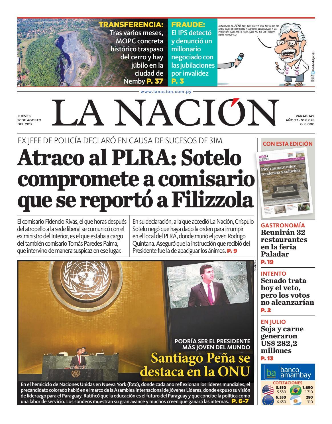 DIARIO LA NACIÓN - EDICIÓN 8.078 by La Nación - issuu
