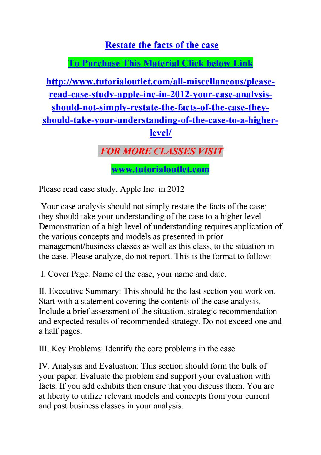 Restate the facts of the case by albert0057 - issuu